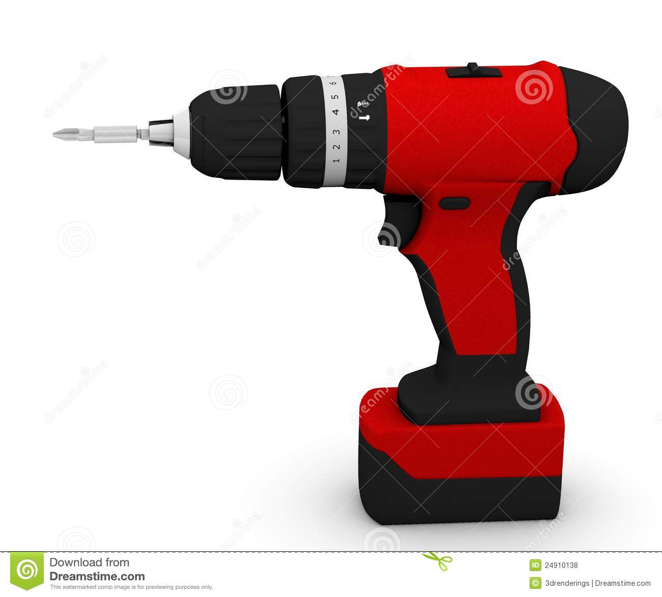 Drill Machine With Screwdriver Bolt Royalty Free Stock