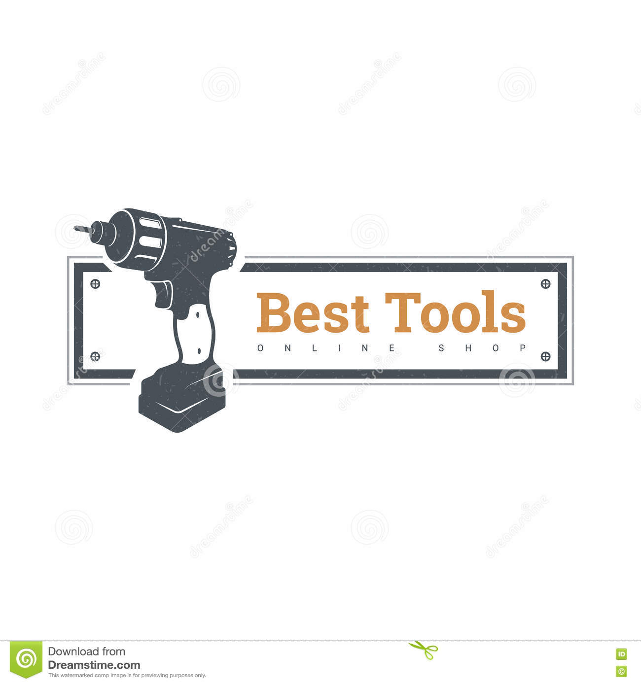 Drill Vector Hand Tool Flat Electro Tools Electric Screwdriver Bit Icon Logo Design Elements Stock Vector Illustration Of Poster Icon 80228853