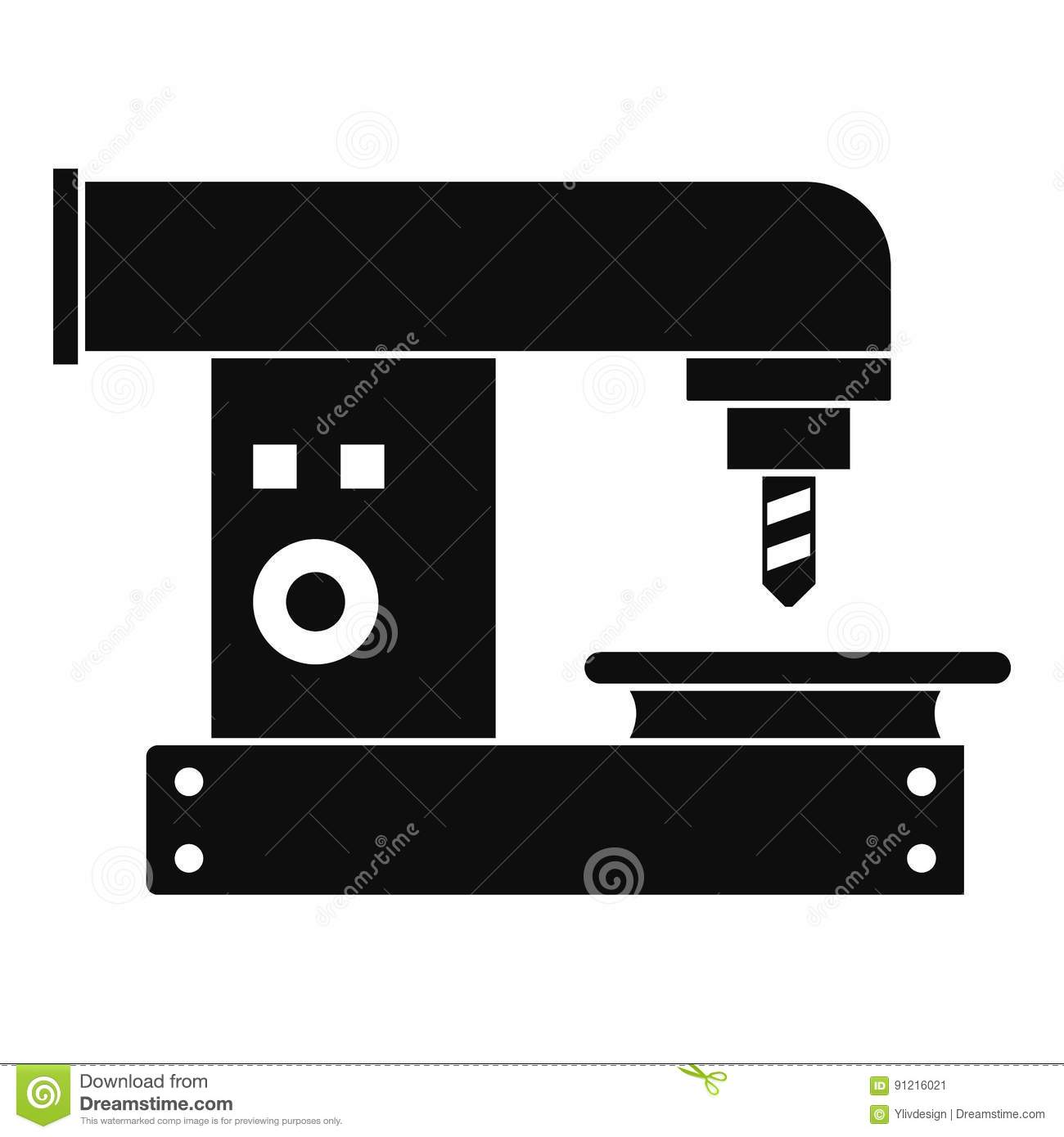 drilling machine icon simple style stock vector