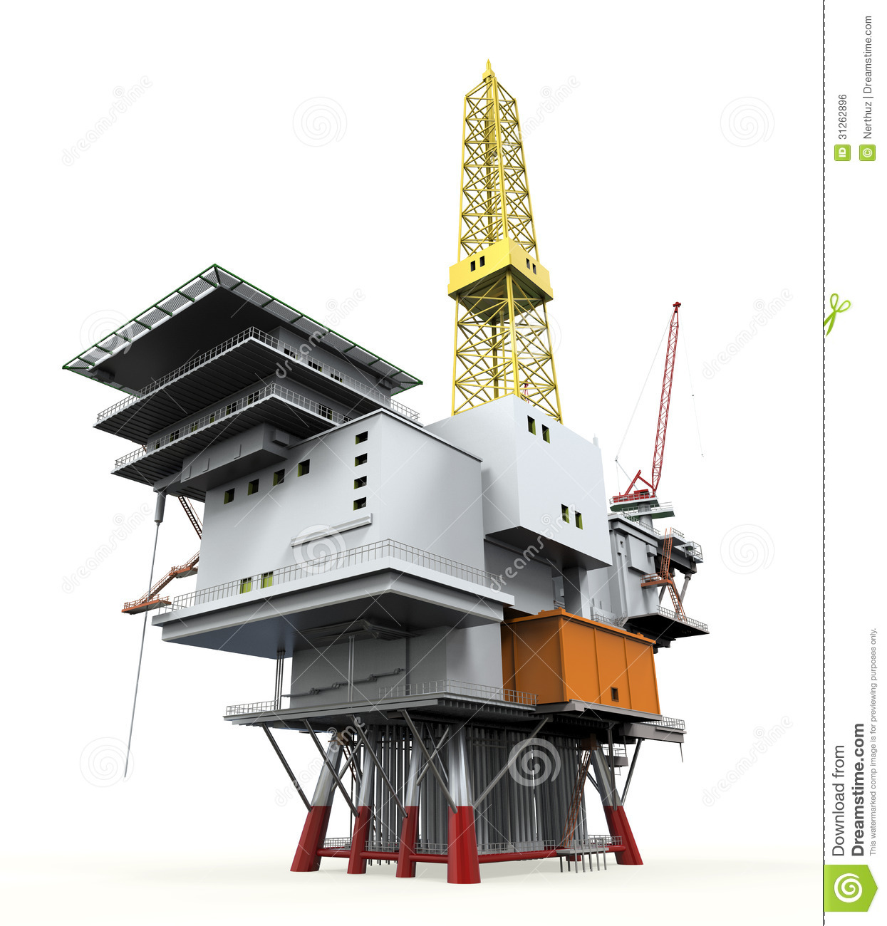 Drilling Offshore Platform Oil Rig Royalty Free Stock Image - Image ...