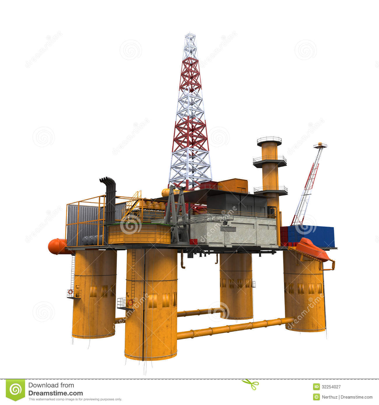 Drilling Offshore Platform Oil Rig Royalty Free Stock ...