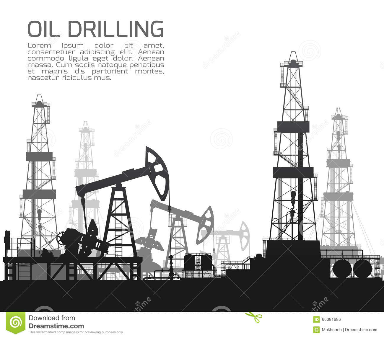 drilling rigs and oil pumps on white stock vector image oilfield worker clipart oilfield rig clipart