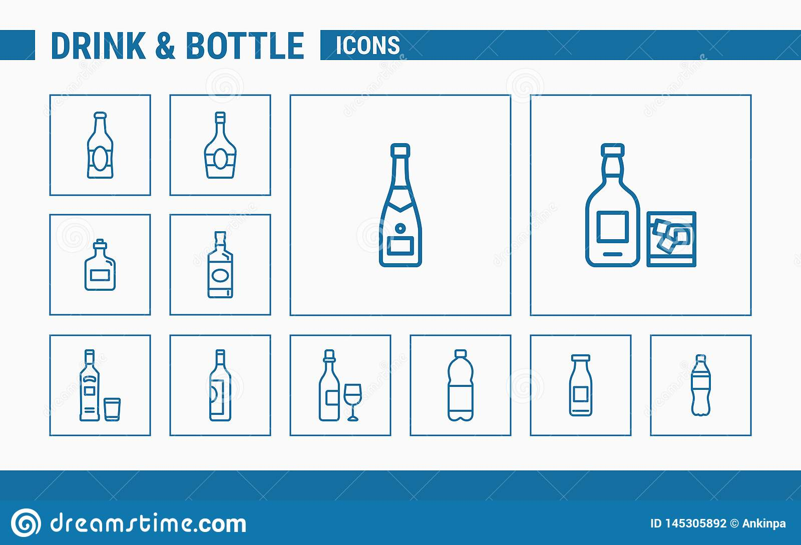 Drink & Bottle Icons - Set Web & Mobile 01