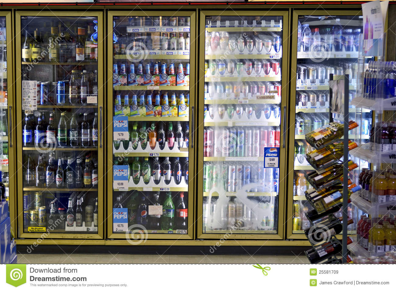 Drink Cooler Editorial Stock Image Image 25581709