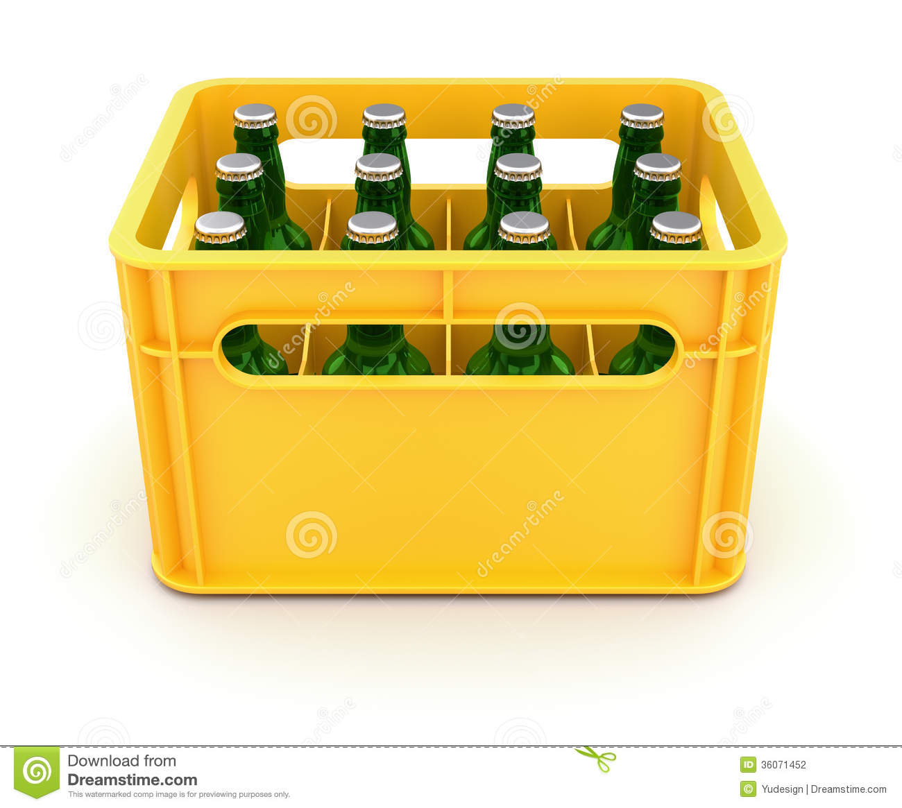 Drink Crate With Beer Bottles Stock Photography - Image: 36071452