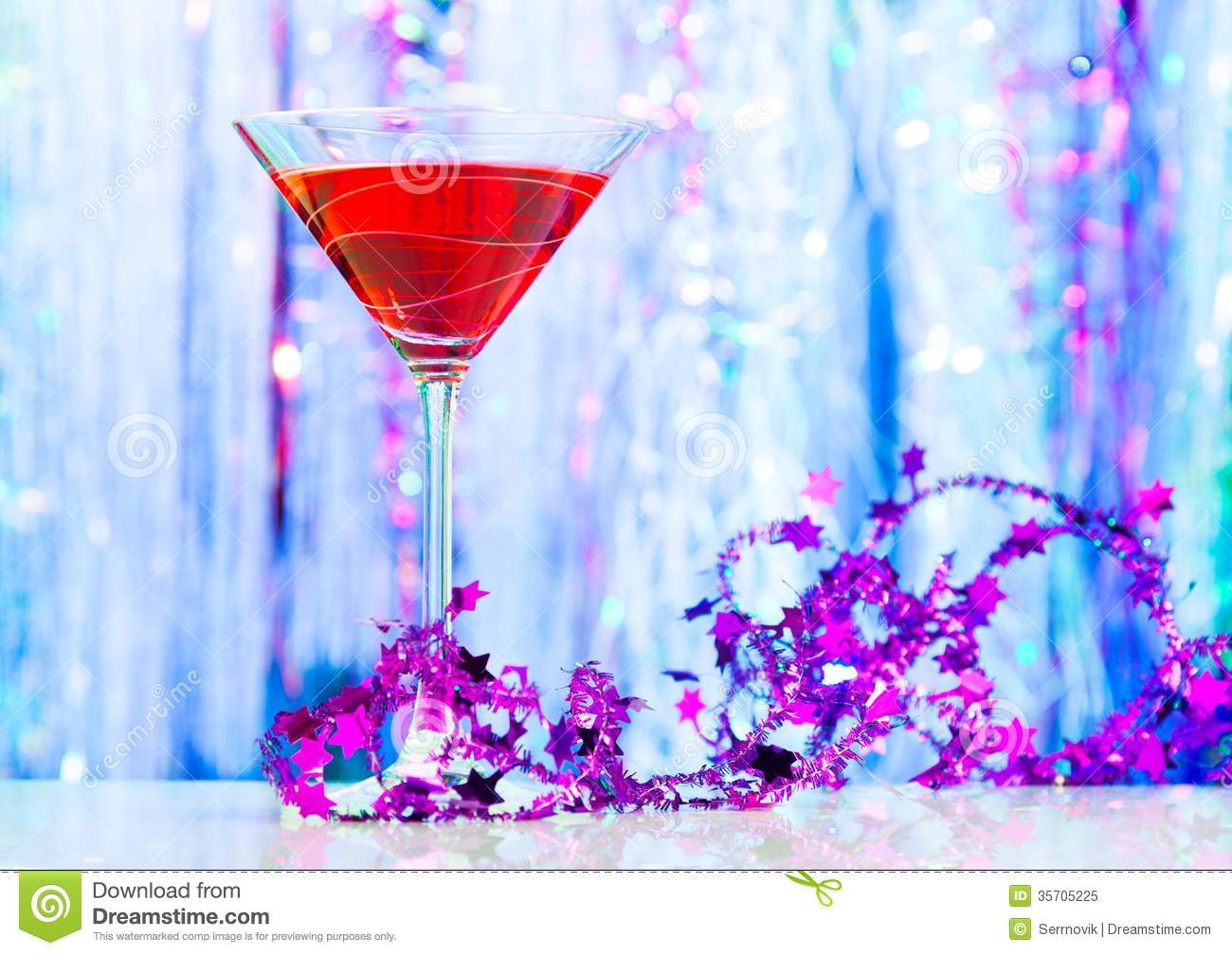 Drink and decorations royalty free stock photo image for Christmas cocktail decorations