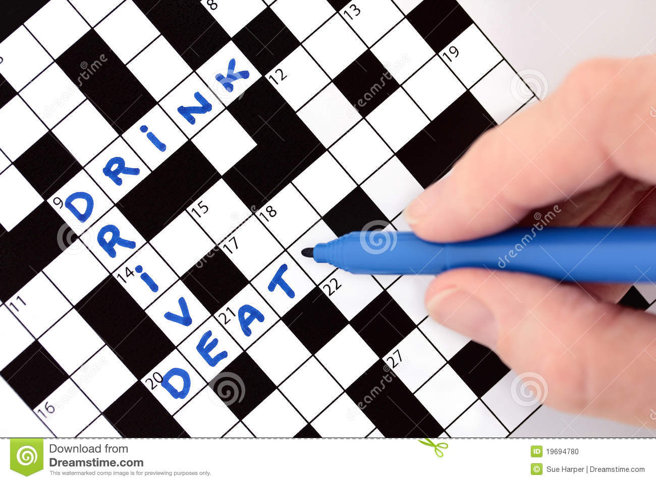 Drink Drive Death Crossword Stock Photo - Image of drink ...