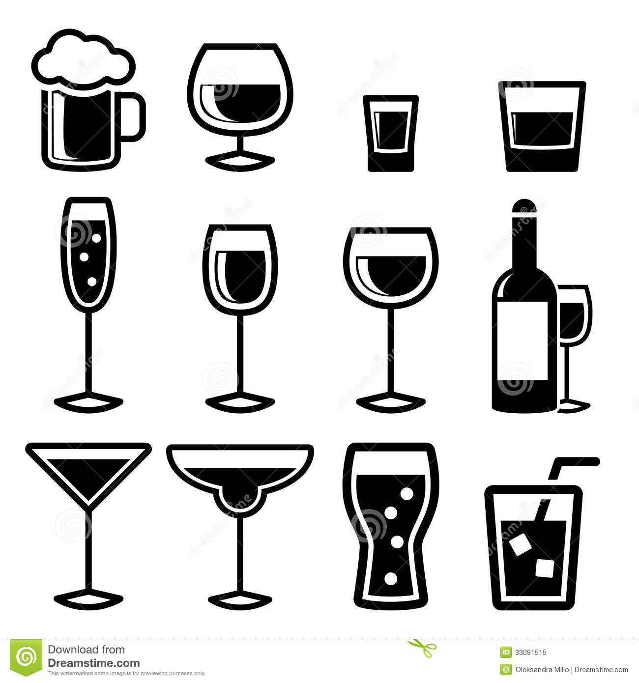 Drink Icons Royalty Free Stock Photo Image 33091515