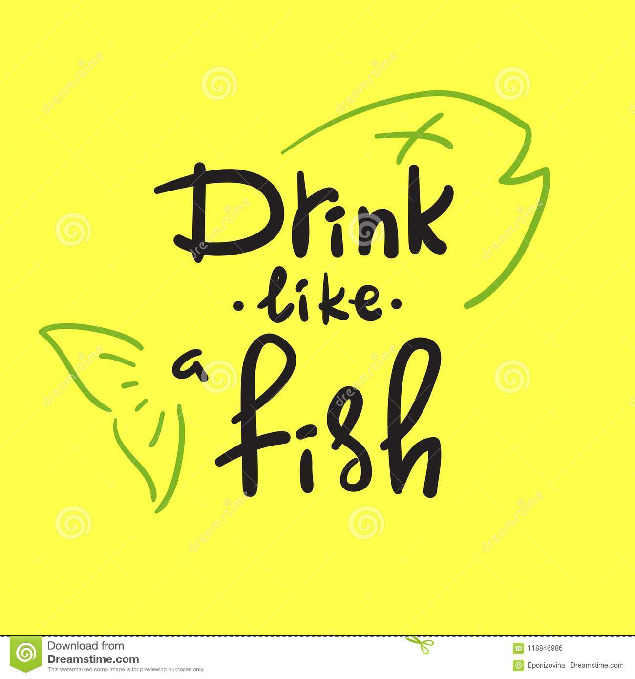 Fish Motivational Quotes: Handwritten Funny Motivational Quote