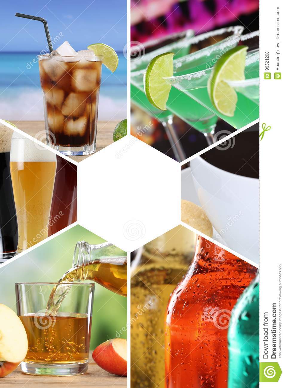 Drink menu collection collage beverages drinks cola restaurant b