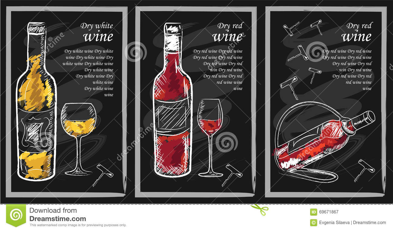 Drink Menu Stock Vector - Image: 69671867