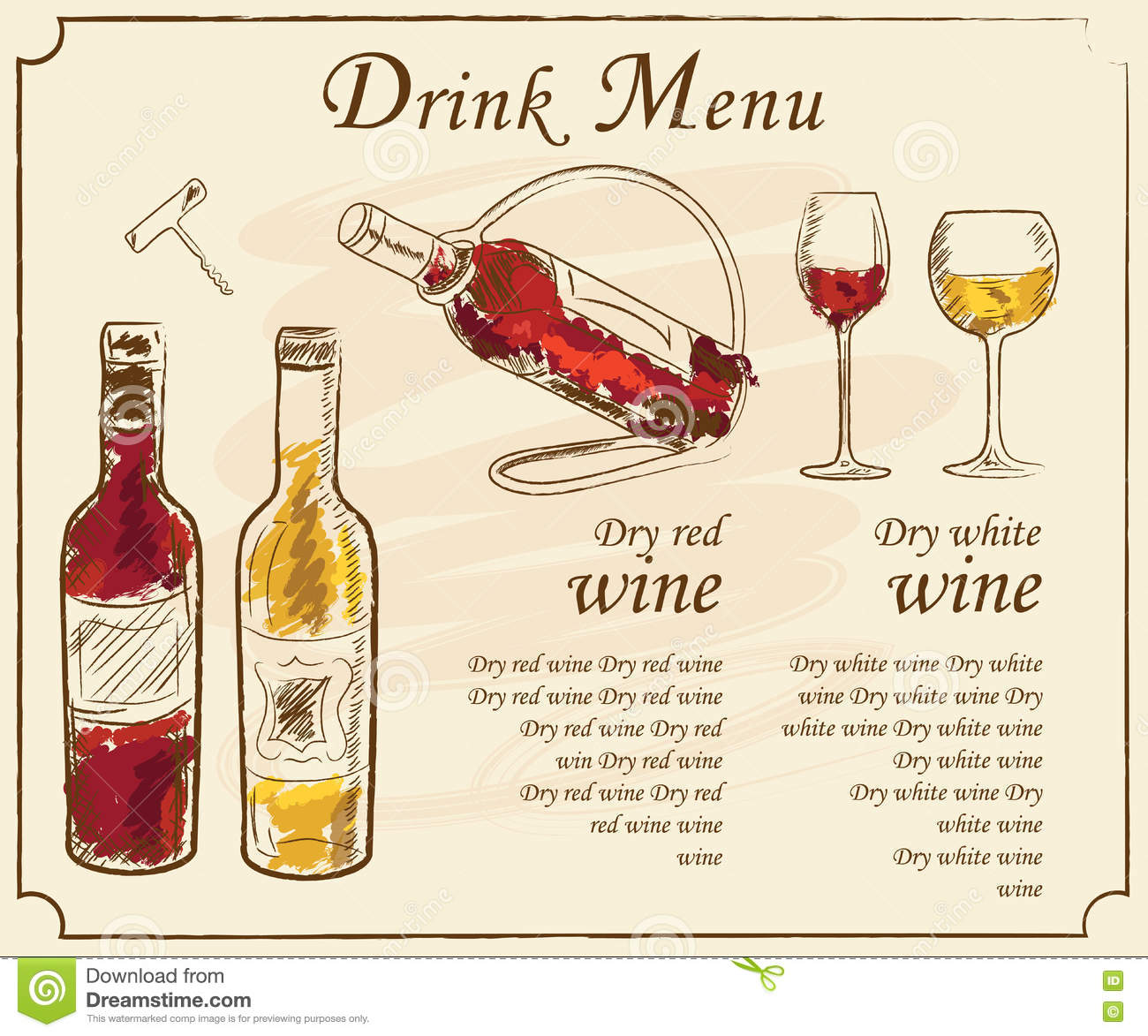 Drink Menu Elements