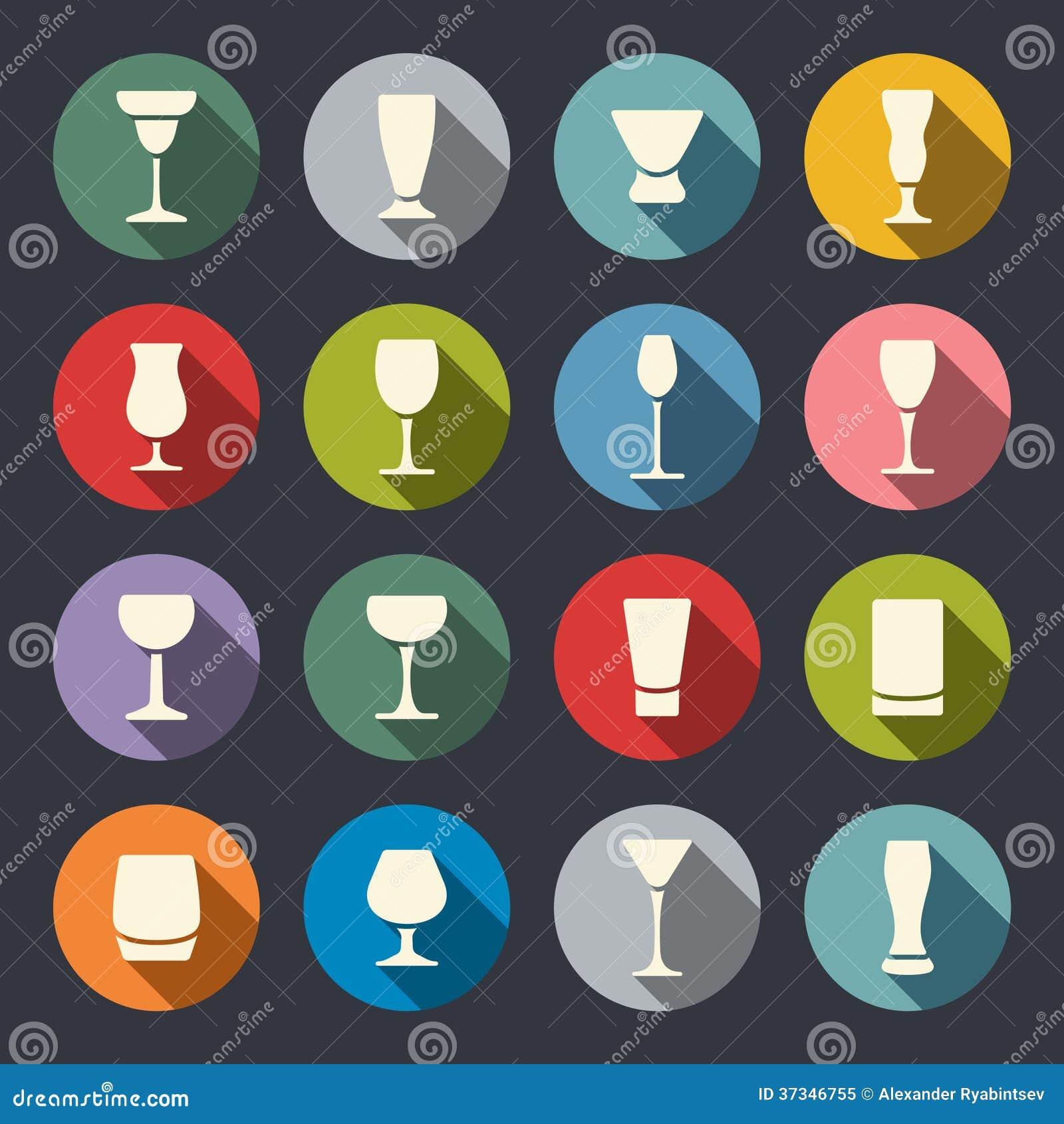 Drink- och drycksymbolsuppsättning