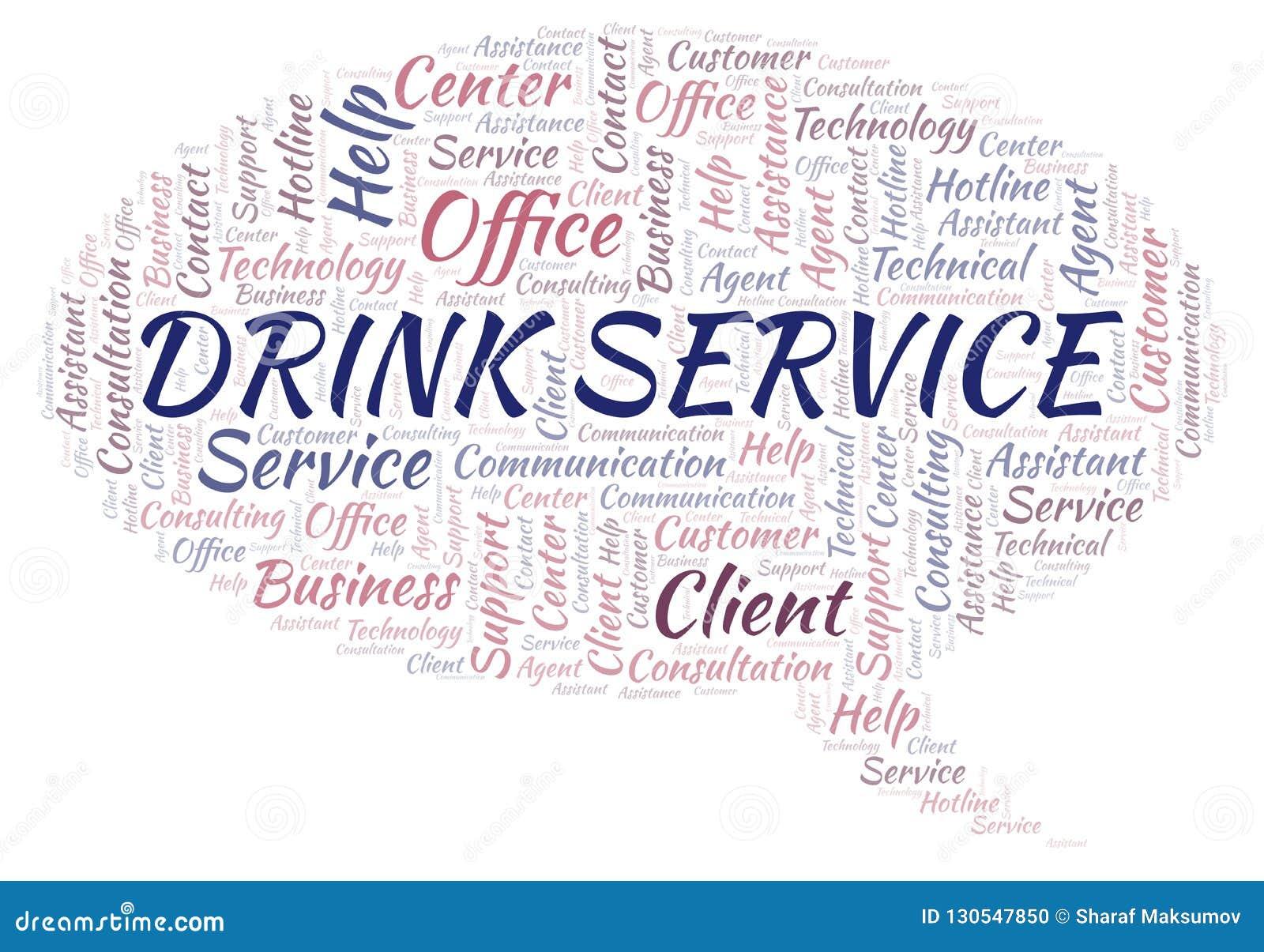 Drink Service Word Cloud  Stock Illustration  Illustration