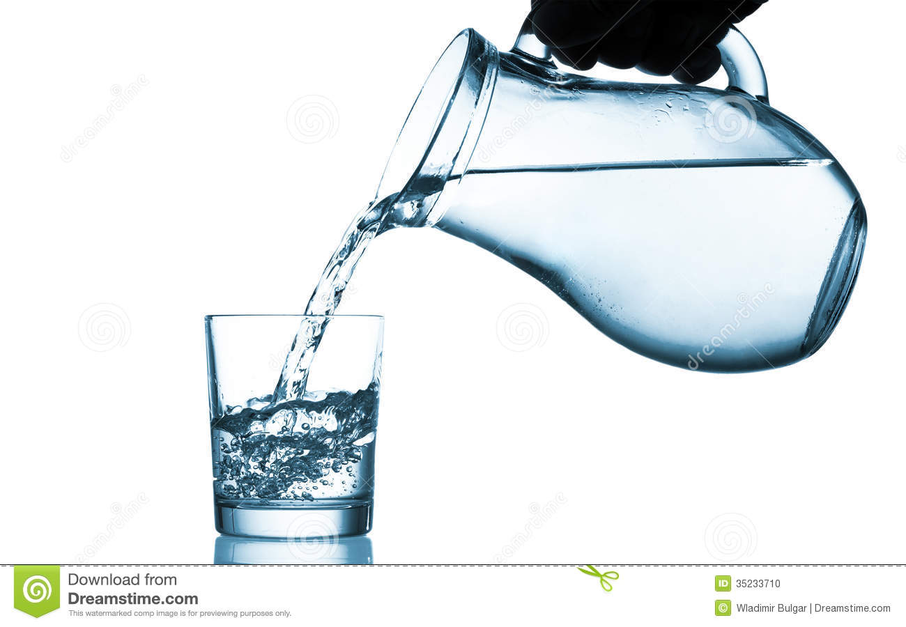 Drink Water Stock Photo - Image: 35233710