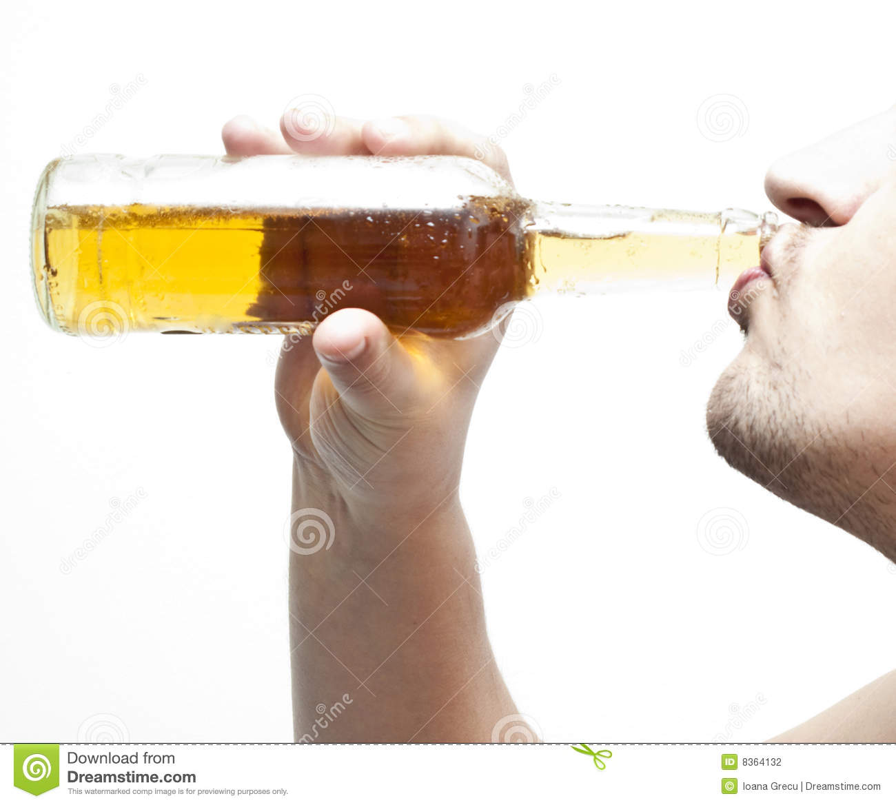 Drinking Beer #2 Stock Photography - Image: 8364132