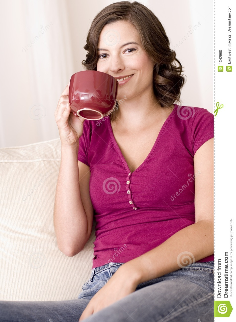 Drinking Coffee At Home