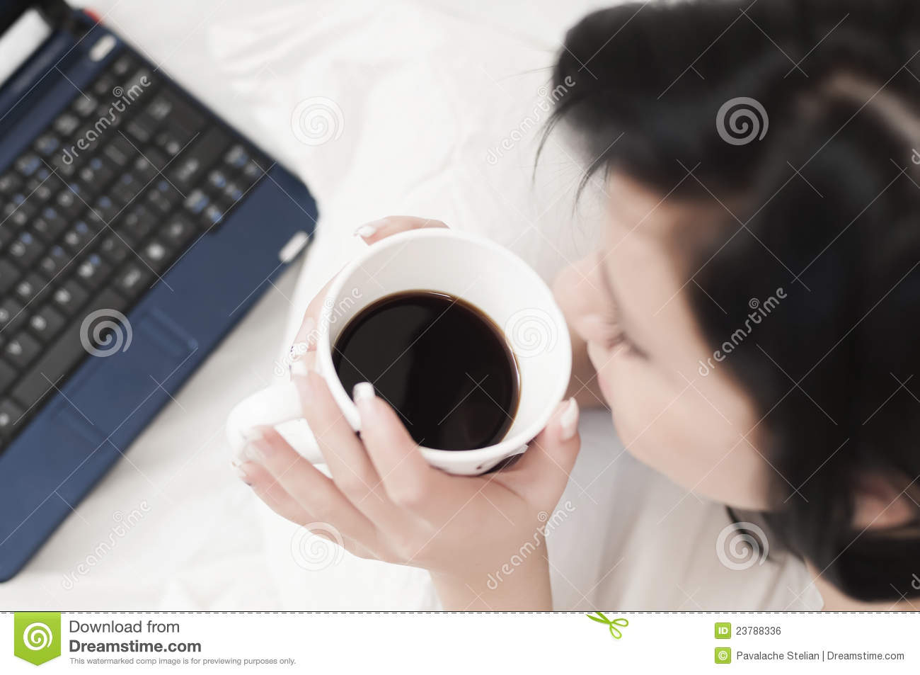 Drinking Coffee At The Office Royalty Free Stock Image ...