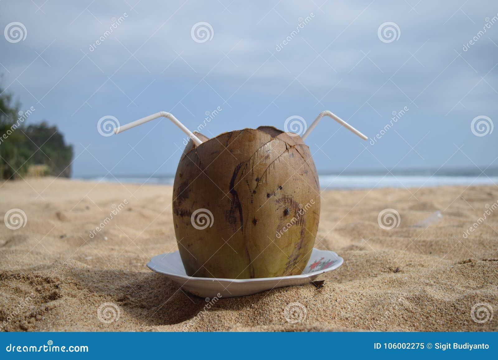 Delicious young coconut