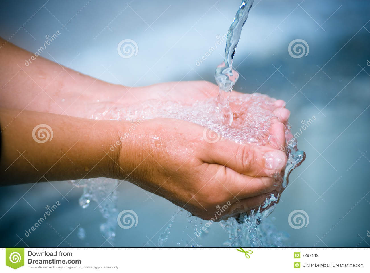 Drinking Fresh Water, 2 Hands Royalty Free Stock Images - Image ... Water In Hand