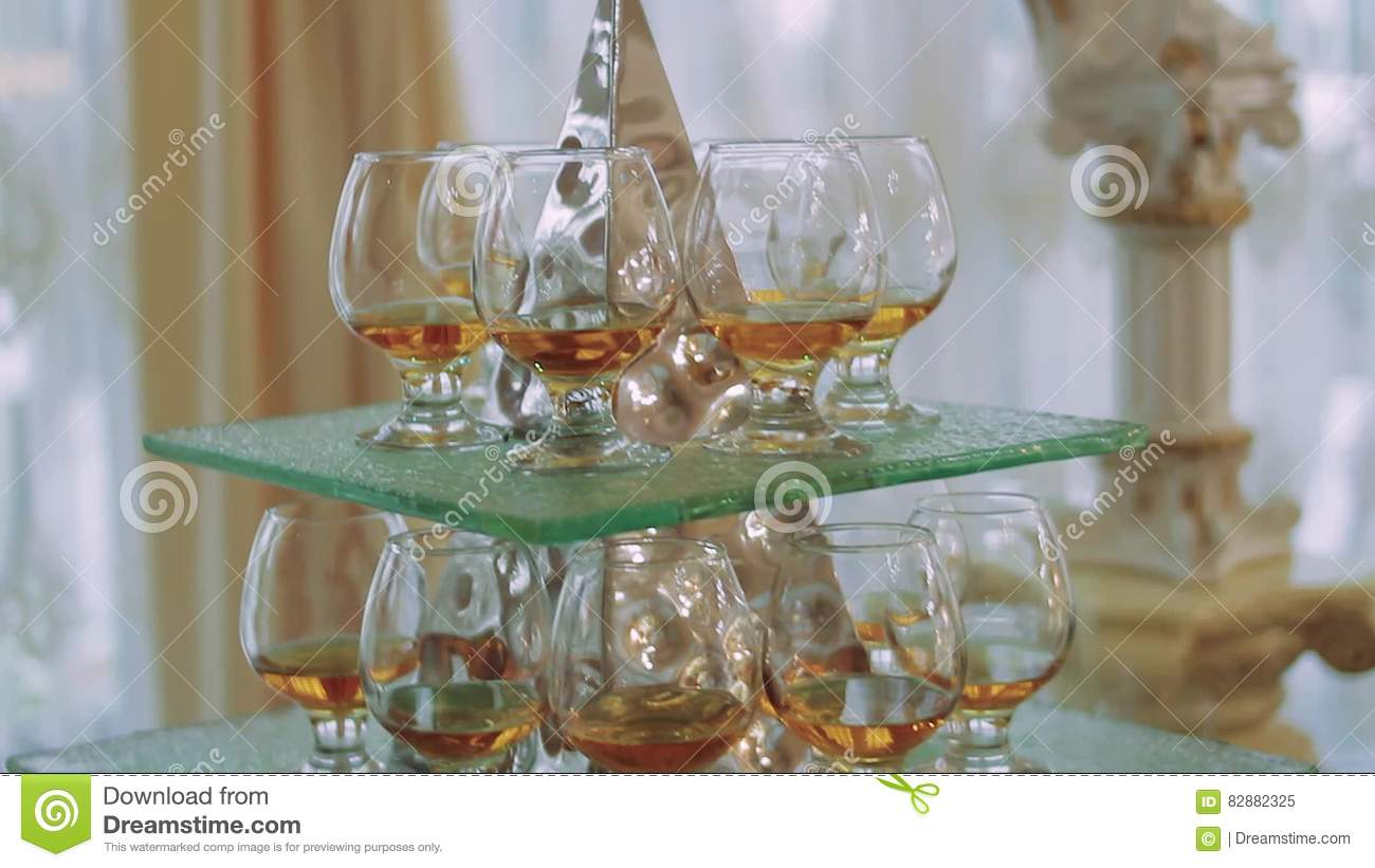 stack wine. Drinking A Glass Pyramid Stack Of Wine Glasses Stock Video - Drink, Balance: 82882325