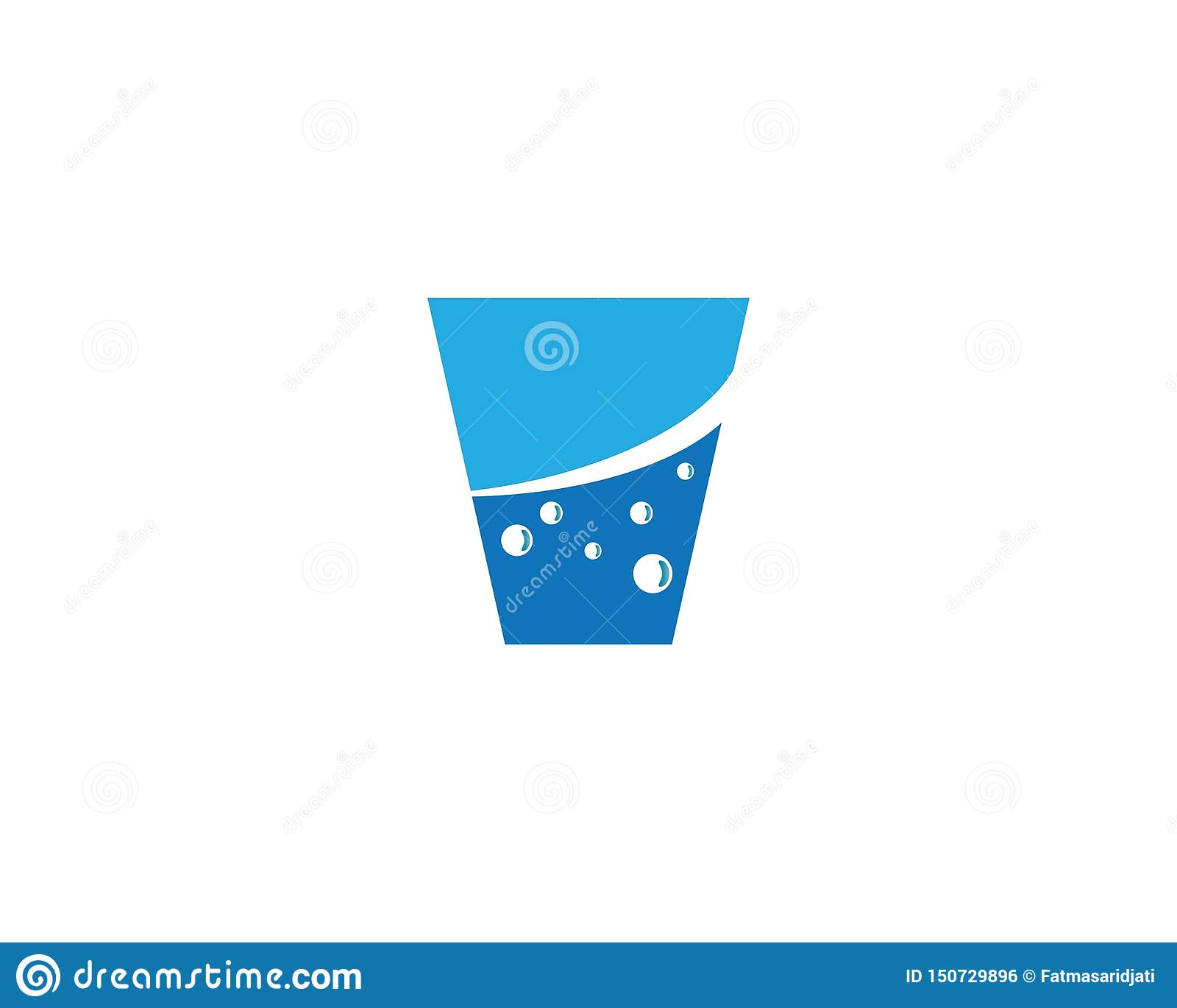 Drinking glass vector illustration