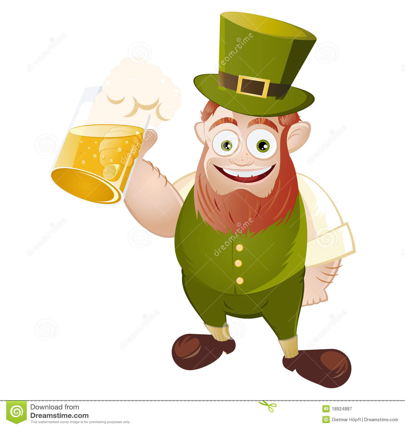 Drinking Leprechaun Royalty Free Stock Photography - Image ...