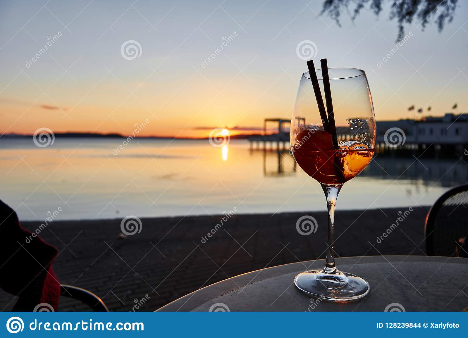 Drinking in the sunset