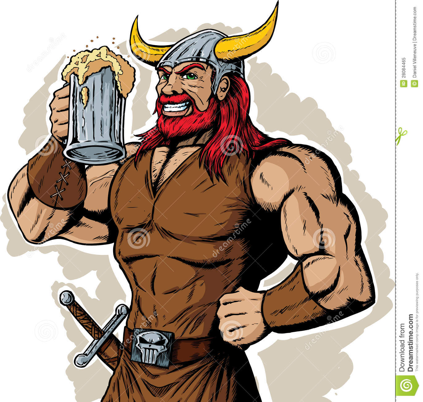 drinking viking stock vector. illustration of handsome - 28084465