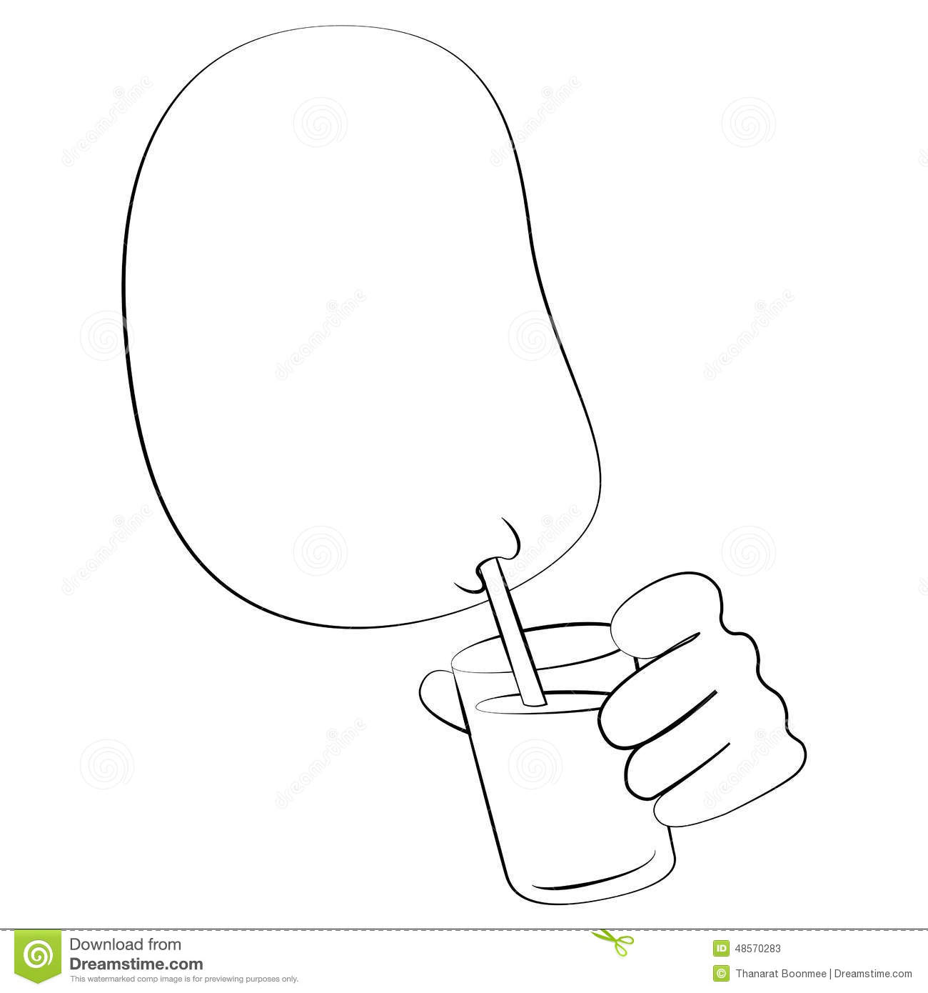Drinking Water Stock Vector - Image: 48570283