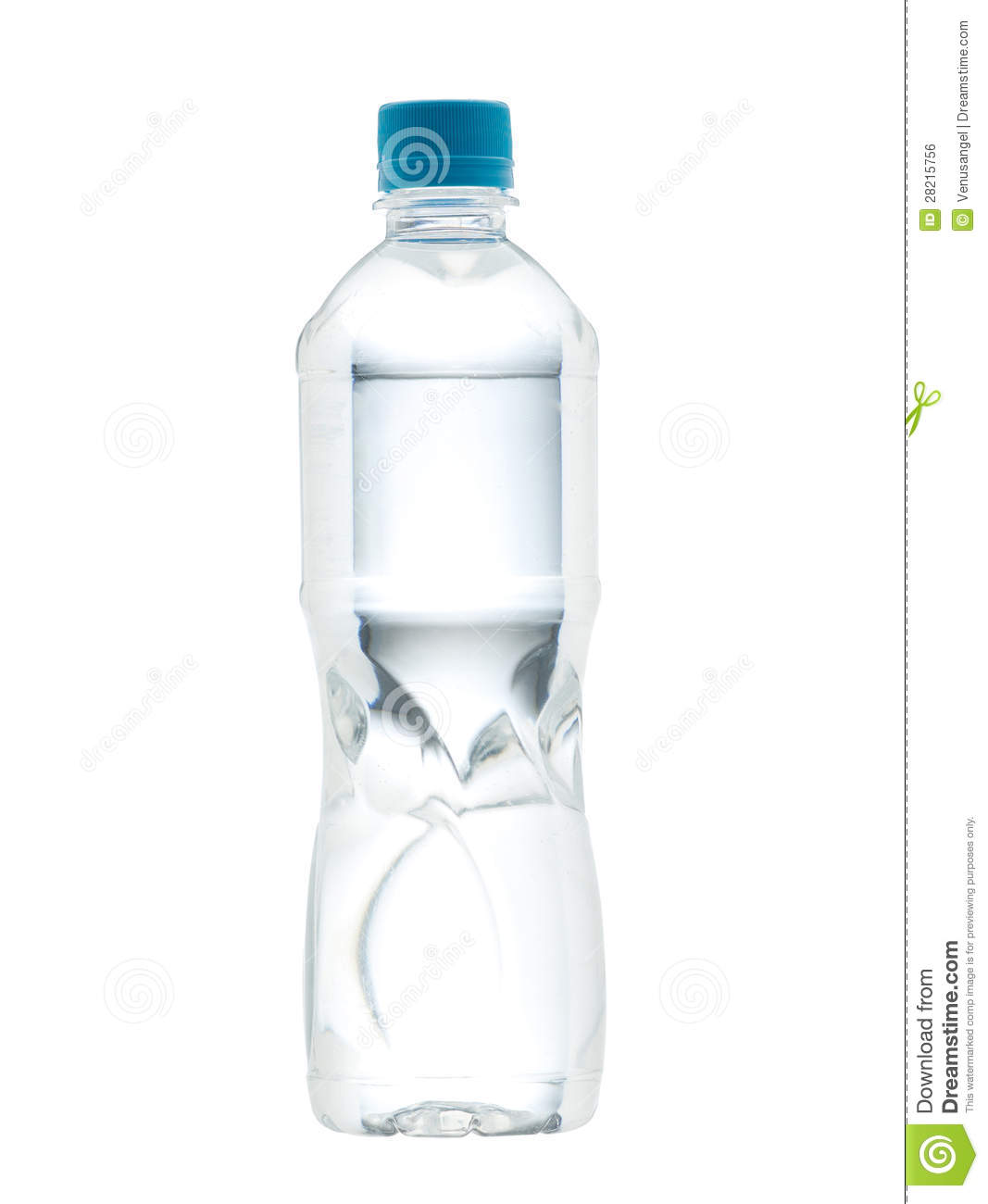 Drinking Water Bottle With Blank Label Royalty Free Stock Image ...
