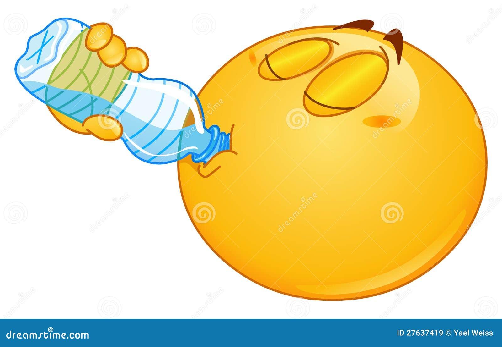 Drinking water emoticon Drunk Emoticon