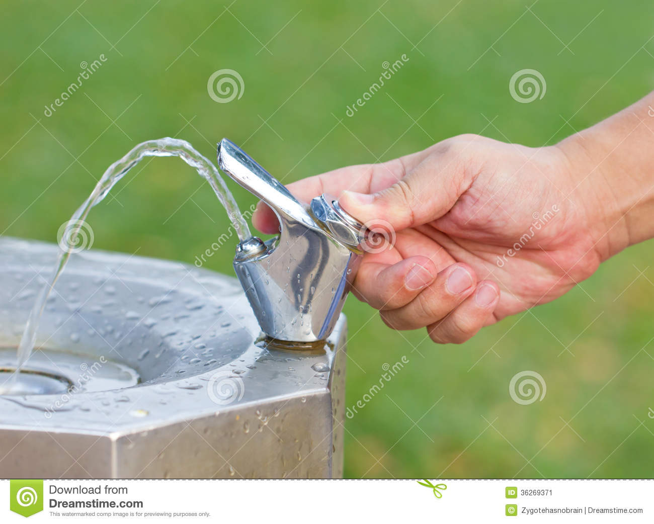 The Drinking Water Faucet At Public Park Stock Image