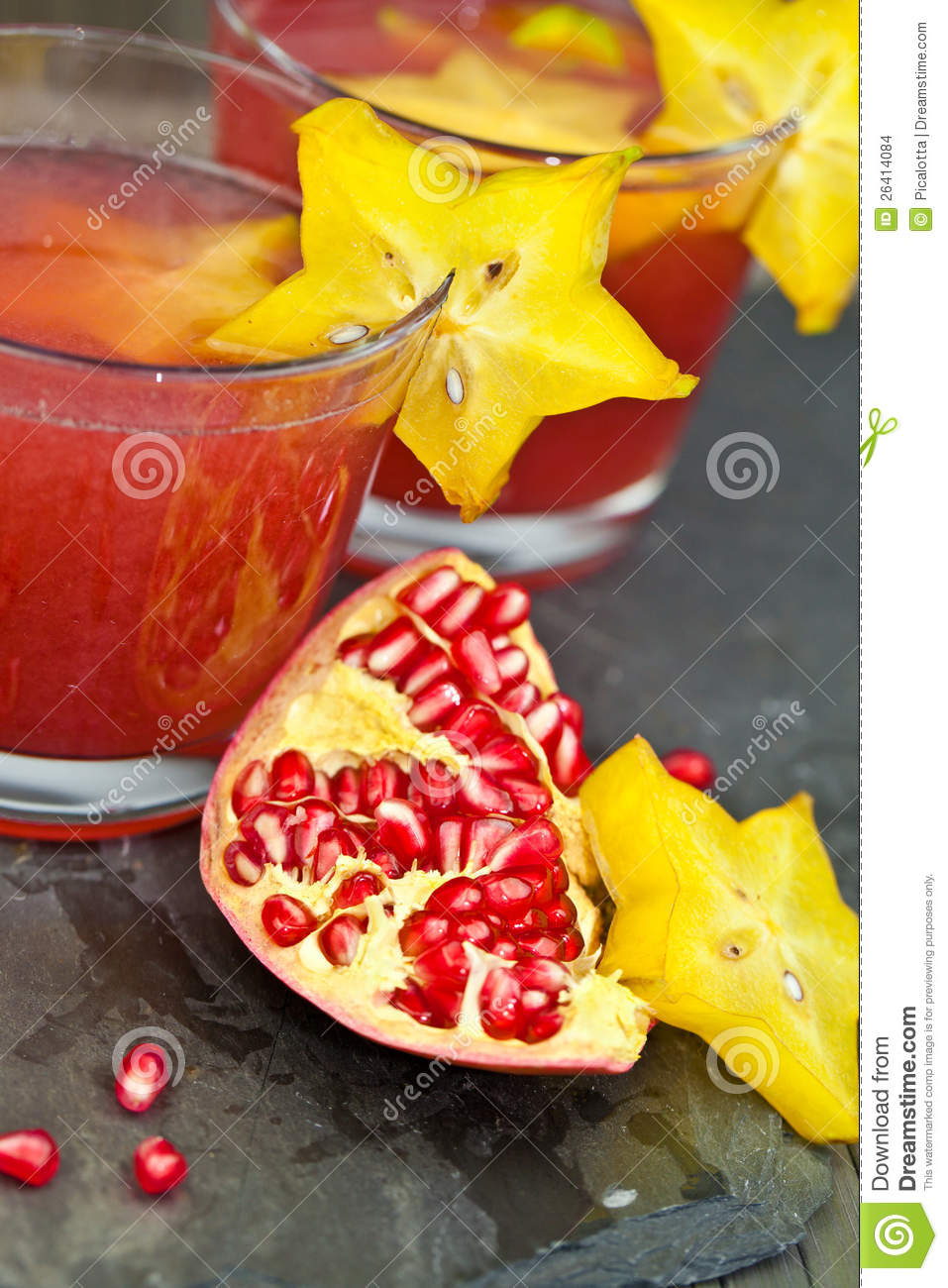 Drinks with Fresh pomegranate