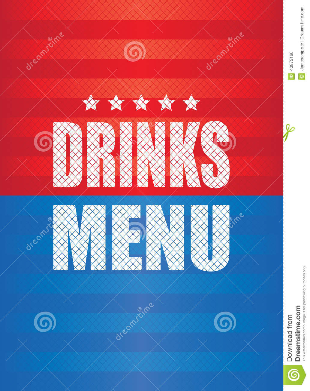 drinks menu background stock vector. illustration of menu - 40875160