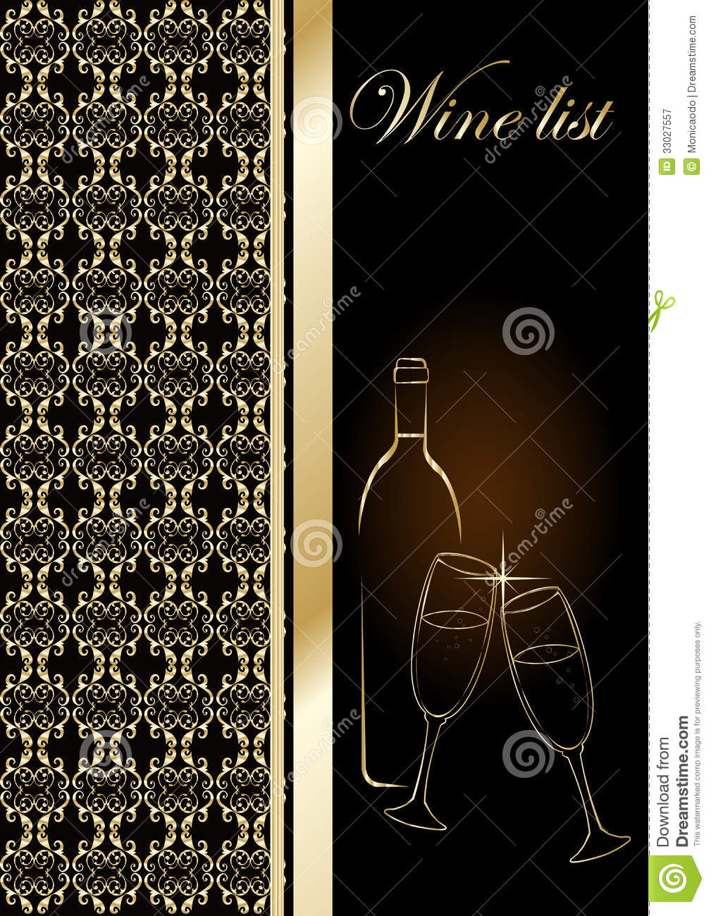 drinks menu stock vector illustration of frame design 33027557
