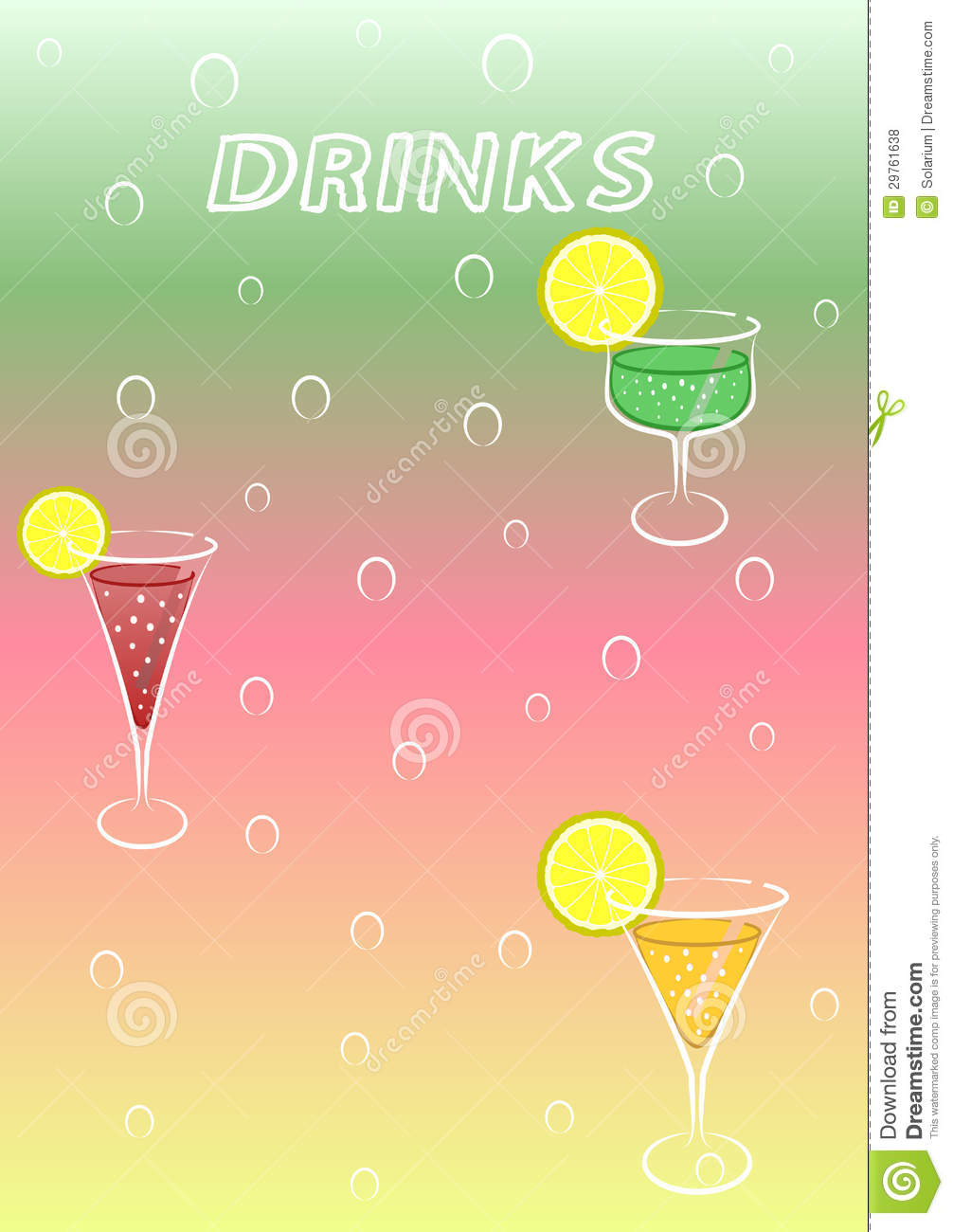 Drink Menu Template | Drinks Menu Stock Vector Illustration Of Invitation 29761638