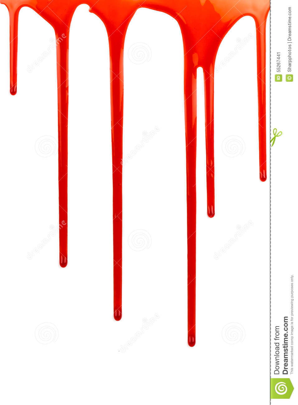 dripping blood on white stock photo image 55267441