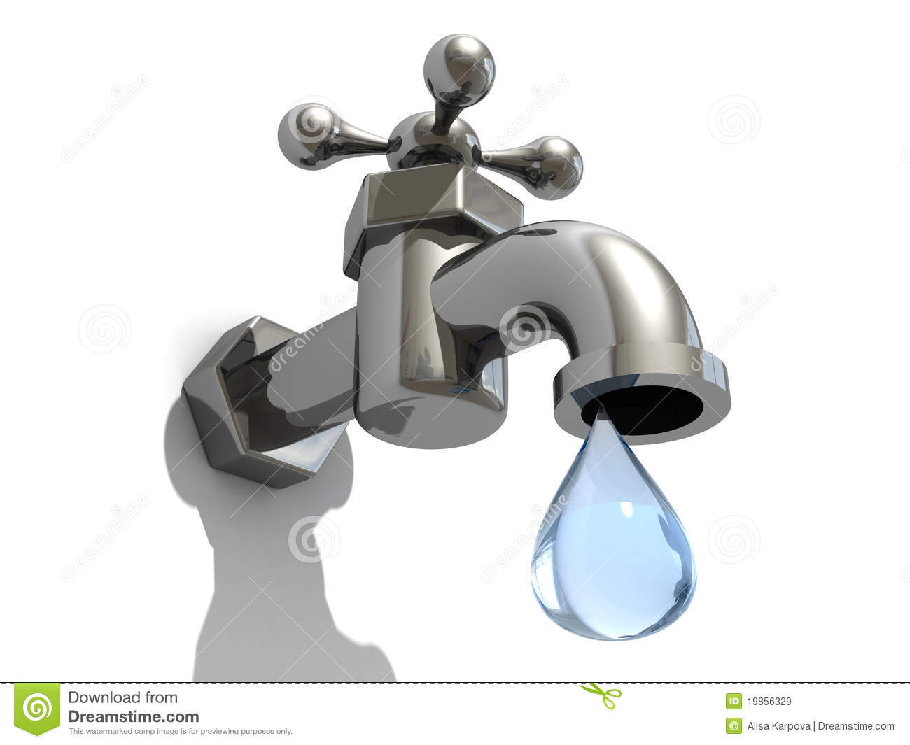 dripping taps with a drop of water royalty free stock images