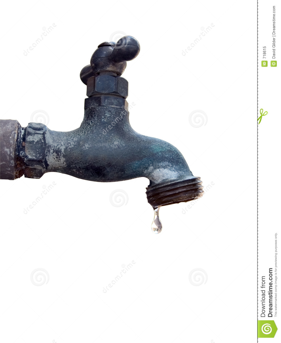 Dripping water faucet stock image. Image of isolation, gardens - 718615