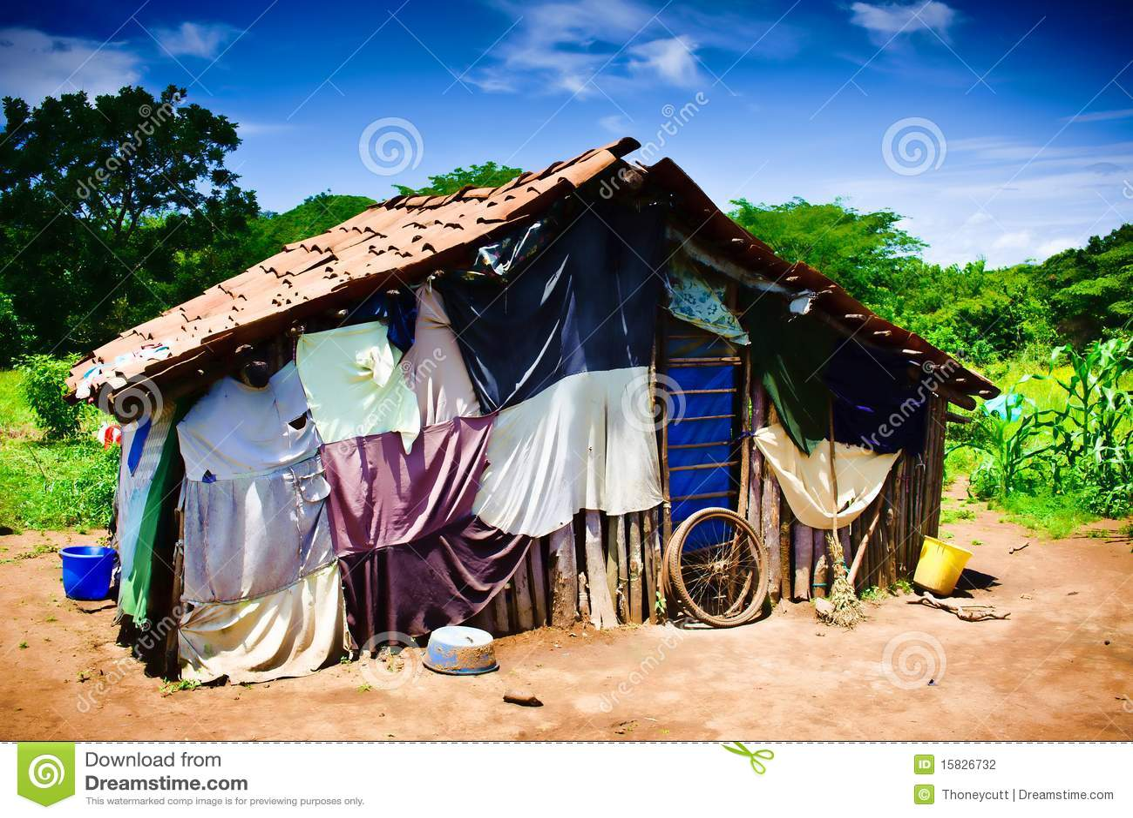 Dritte welt haus stockfotografie bild 15826732 - Bell glazen huis in de wereld ...
