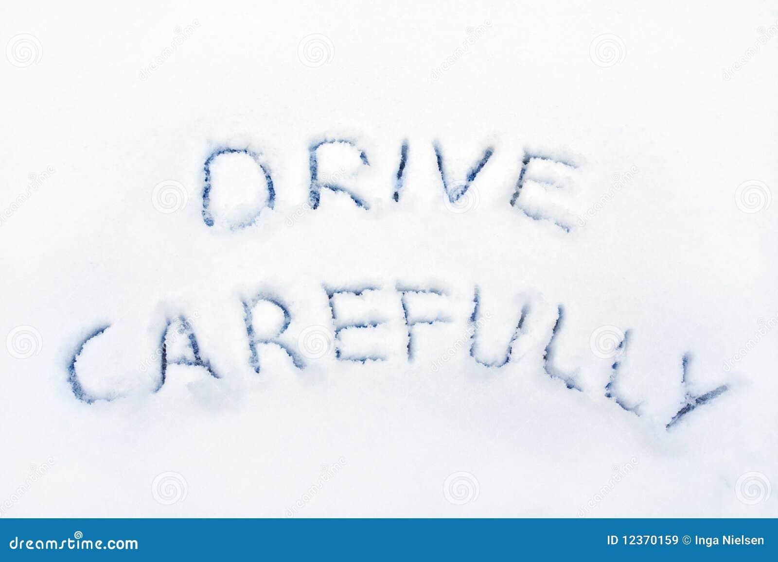 Warning Road Sign Drive Carefully Royalt...