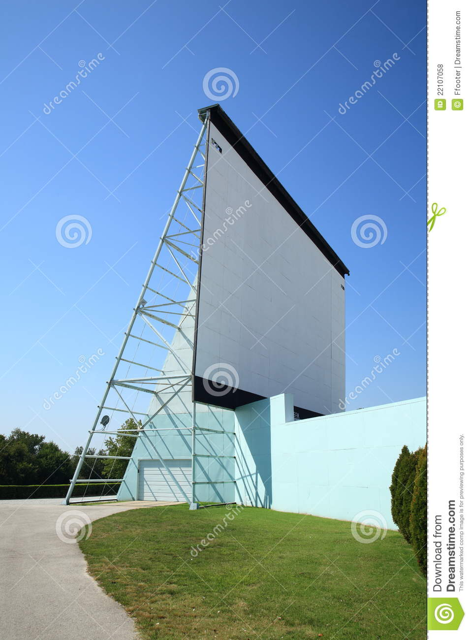 Drive In Movie Screen Royalty Free Stock Photos Image