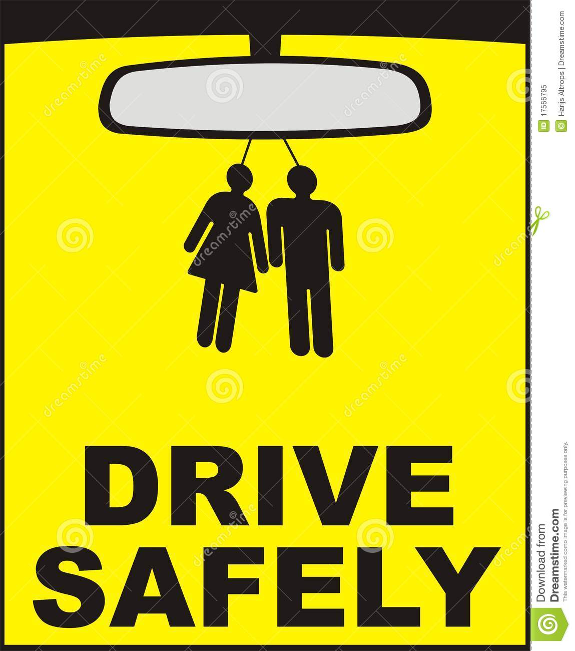 Drive Safely Vector Stock Illustration. Illustration Of
