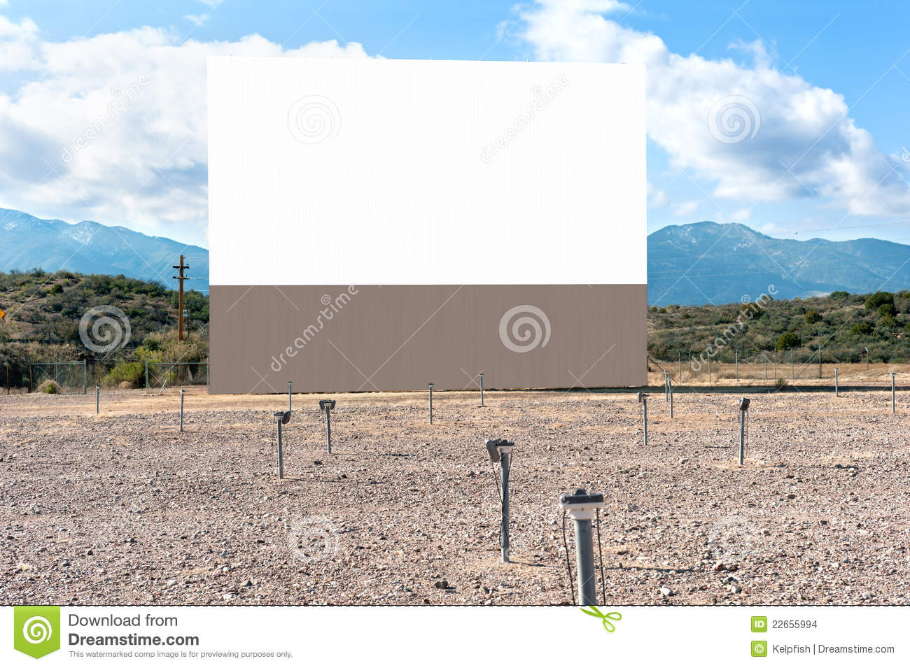 Drive In Theater Stock Photo Image Of Blank Functional 22655994