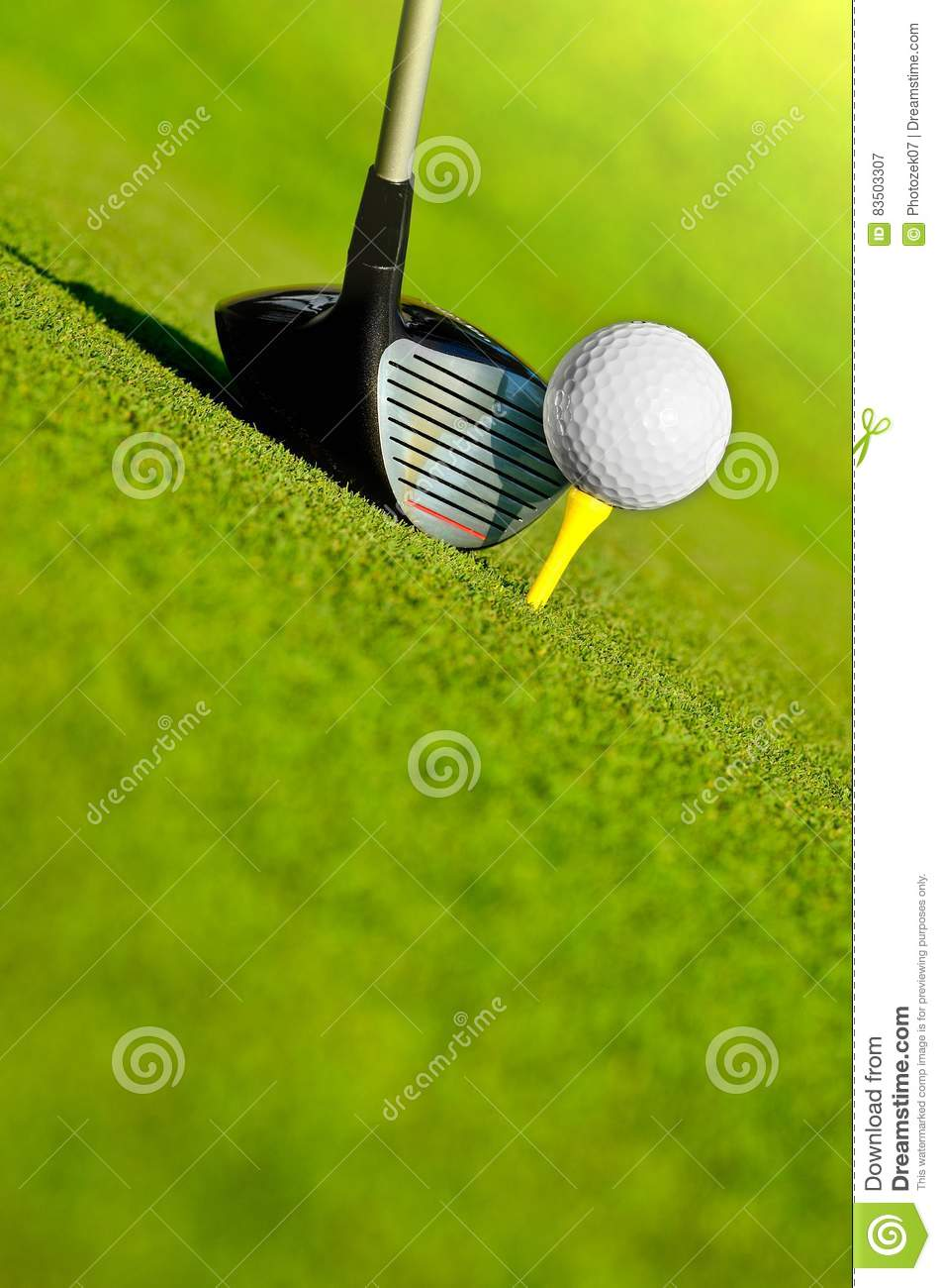 Driver and ball on tee