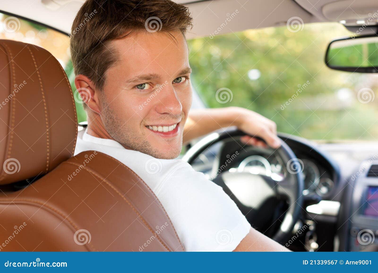 Driver In His Car Or Van Stock Image Image Of Transport 21339567