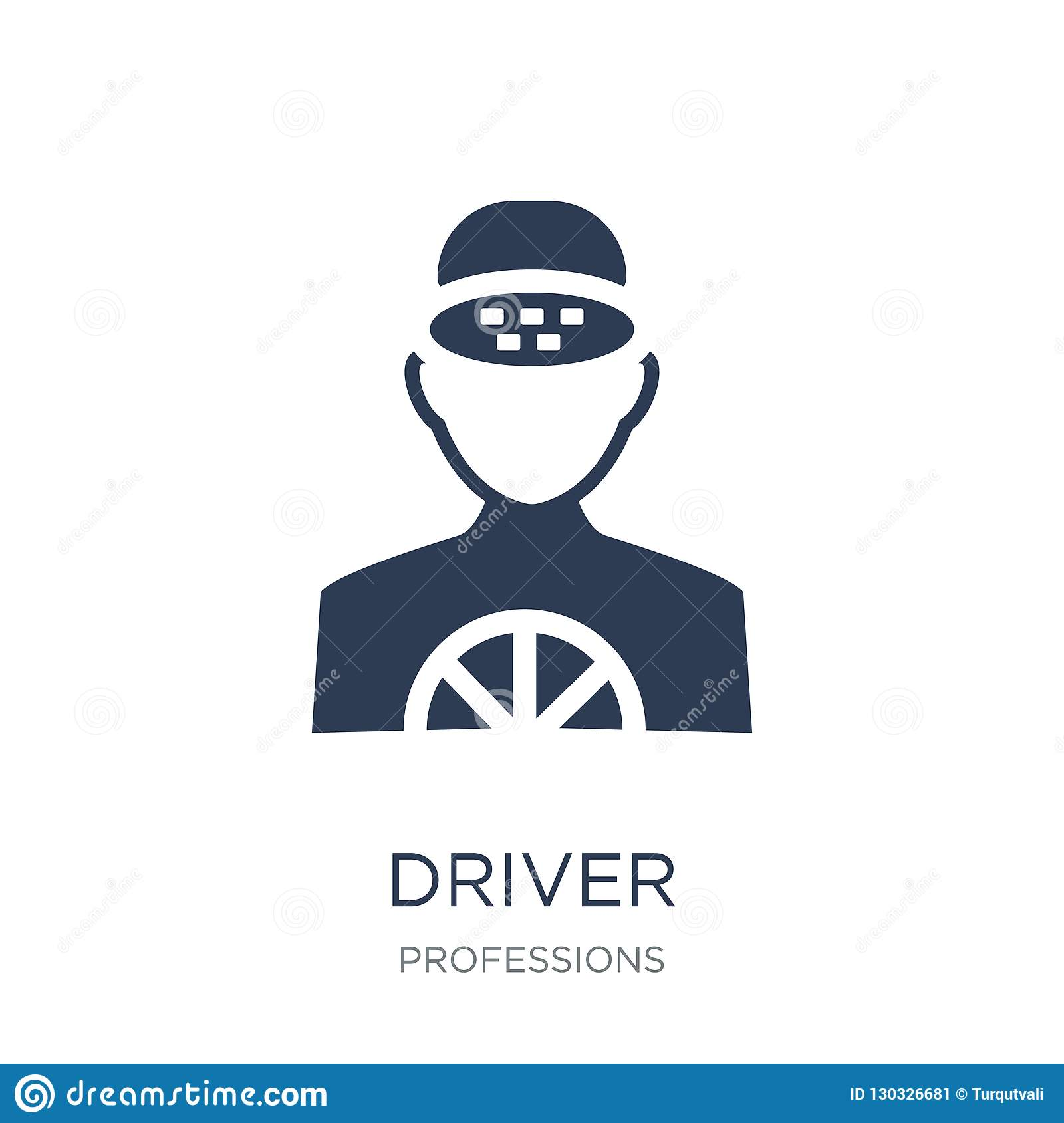 Driver icon. Trendy flat vector Driver icon on white background