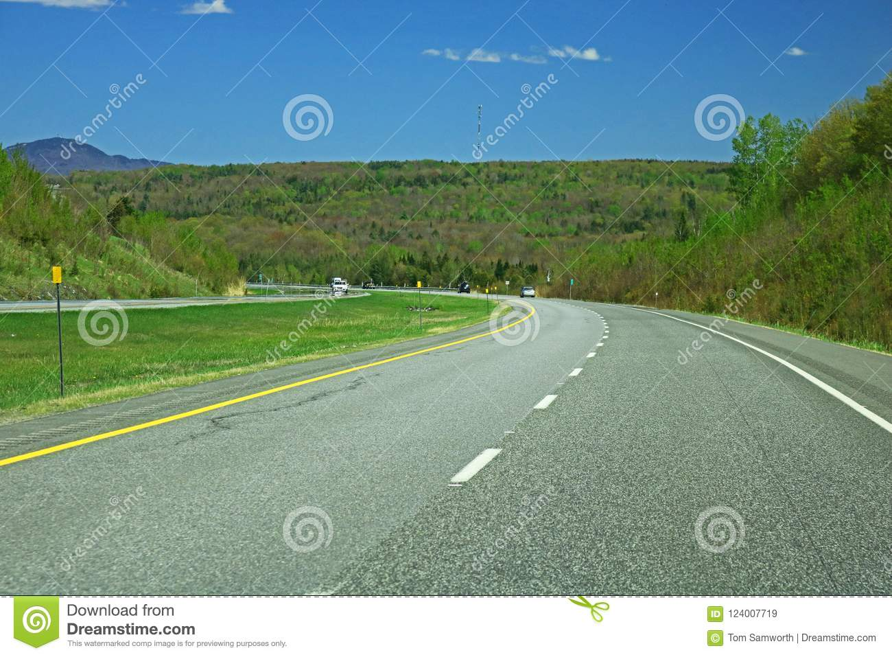 Driver`s View Of Quebec Highway 10