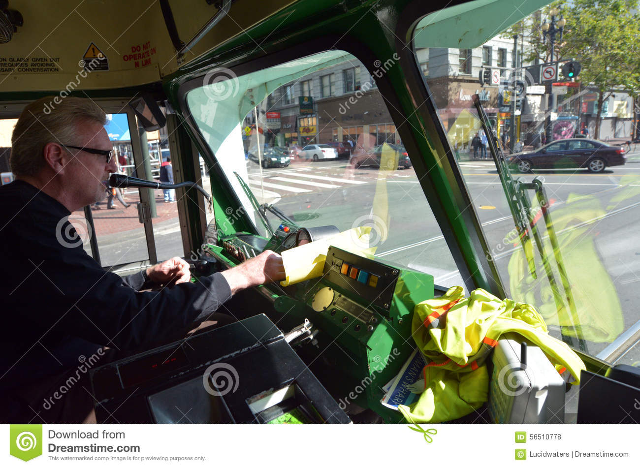 Driver Of San Francisco's Original Double-ended PCC